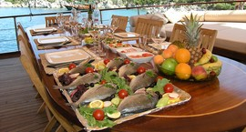 Gulet culinary experience in Greece